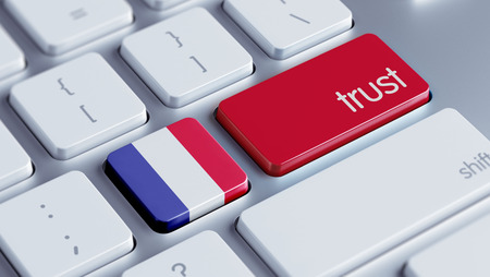confianza concepto: Francia Alto Resolution Trust Concept