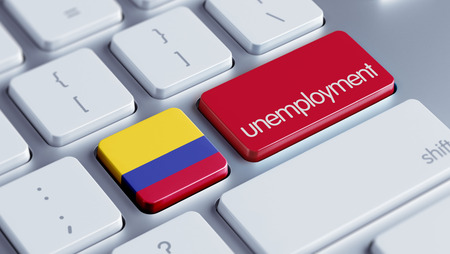 Colombia High Resolution Unemployment Concept photo