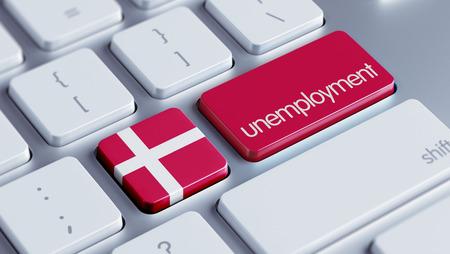 Denmark High Resolution Unemployment Concept photo