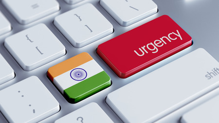 India High Resolution Urgency Concept