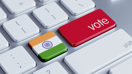 India High Resolution Vote Concept