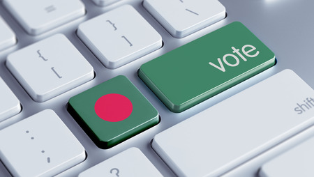 Bangladesh High Resolution Vote Concept Stock Photo