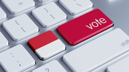 Indonesia High Resolution Vote Concept Stock Photo