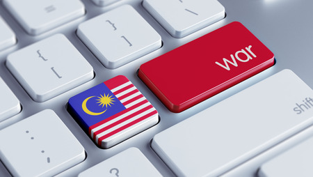 tussle: Malaysia High Resolution War Concept