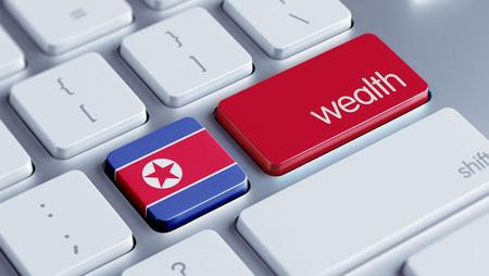 North Korea High Resolution Wealth Concept