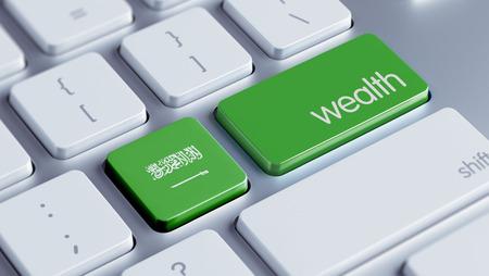 Saudi Arabia High Resolution Wealth Concept