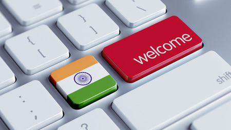 India High Resolution Welcome Concept Stock Photo