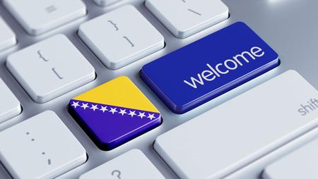 herzegovina: Bosnia and Herzegovina  High Resolution Welcome Concept