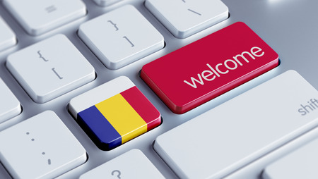 Romania High Resolution Welcome Concept Stock Photo
