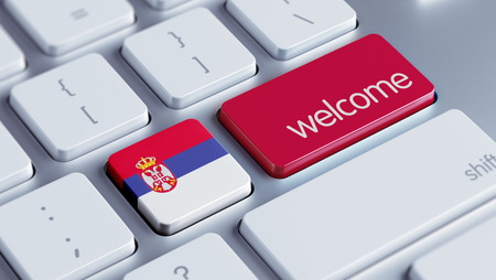 appreciated: Serbia High Resolution Welcome Concept Stock Photo