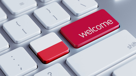 appreciated: Poland High Resolution Welcome Concept Stock Photo