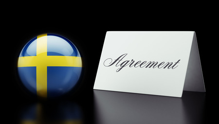 Sweden High Resolution Agreement Concept photo