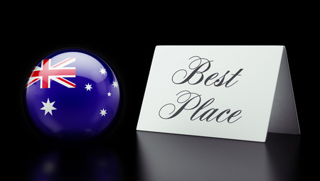 superlative: Australia High Resolution Best Place Concept Stock Photo