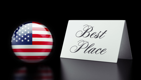 optimum: United States High Resolution Best Place Concept Stock Photo