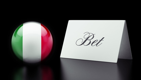 bet: Italy High Resolution Bet Concept Stock Photo
