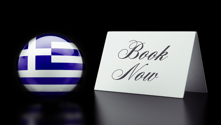 Greece High Resolution Book Now Concept photo
