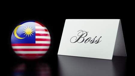take charge: Malaysia High Resolution Boss Concept Stock Photo