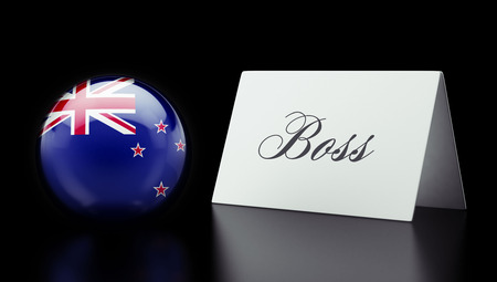 new zealand word: New Zealand High Resolution Boss Concept Stock Photo