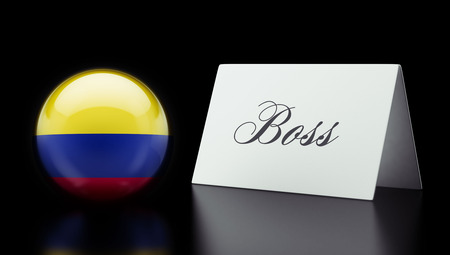 autocratic: Colombia High Resolution Boss Concept Stock Photo