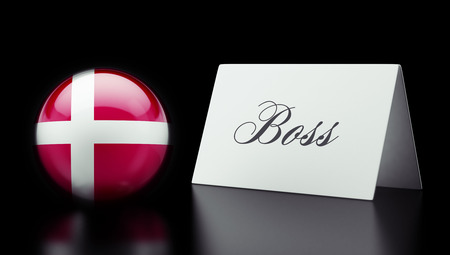 take charge: Denmark High Resolution Boss Concept Stock Photo