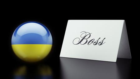 autocratic: Ukraine High Resolution Boss Concept Stock Photo