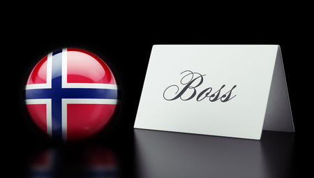 take charge: Norway High Resolution Boss Concept Stock Photo