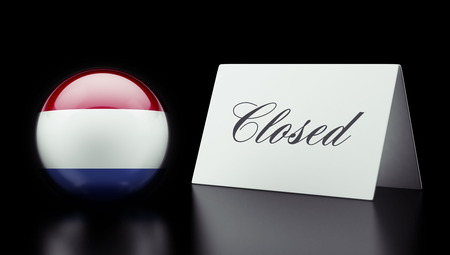 Netherlands High Resolution Closed Concept Stock Photo - 28843174