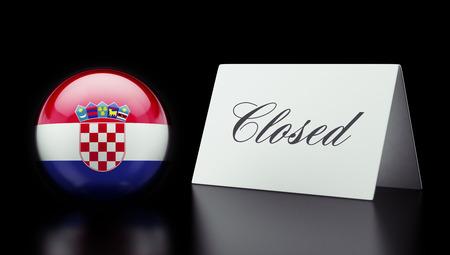 Croatia High Resolution Closed Concept Stock Photo - 28843227