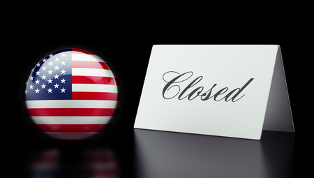 United States High Resolution Closed Concept Stock Photo - 28843236