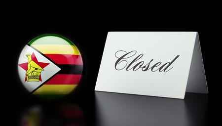 Zimbabwe High Resolution Closed Concept Stock Photo - 28843237