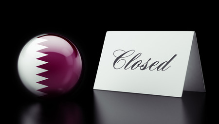 Qatar High Resolution Closed Concept Stock Photo - 28843241