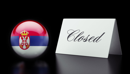 Serbia High Resolution Closed Concept Stock Photo - 28843244