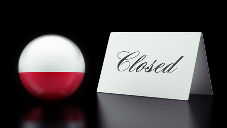Poland High Resolution Closed Concept Stock Photo - 28843246