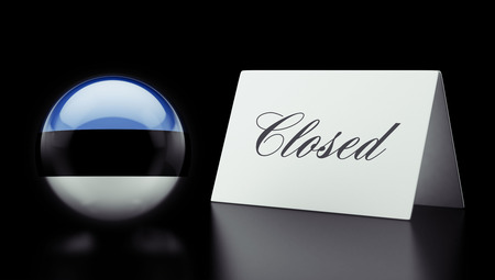 Estonia High Resolution Closed Concept Stock Photo - 28843250