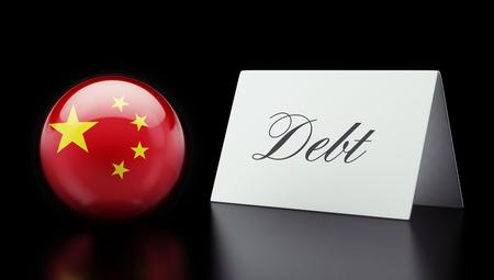 China High Resolution Debt Concept Banco de Imagens