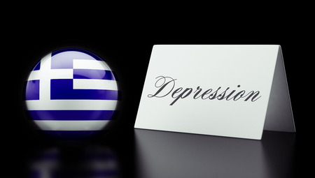 Greece High Resolution Depression Concept photo