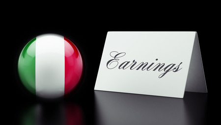 earnings: Italy High Resolution Earnings Concept Stock Photo