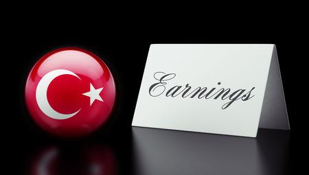 earnings: Turkey High Resolution Earnings Concept
