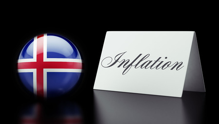 inflation: Iceland High Resolution Inflation Concept Stock Photo