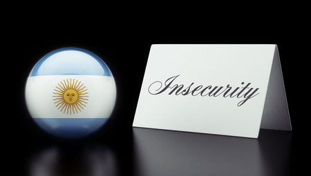 insecurity: Argentina High Resolution Insecurity Concept Stock Photo