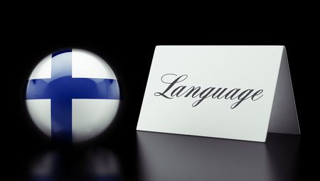 Finland High Resolution Language Concept Stok Fotoğraf