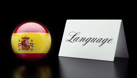 Spain High Resolution Language Concept Stok Fotoğraf