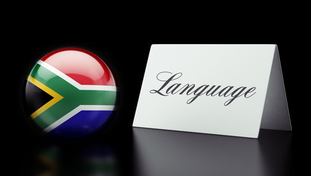 South Africa High Resolution Language Concept