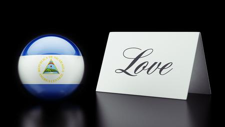 Nicaragua High Resolution Love Concept photo