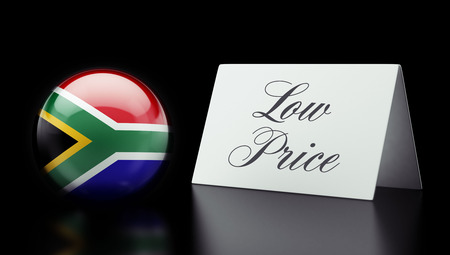 low price: South Africa High Resolution Low Price Concept