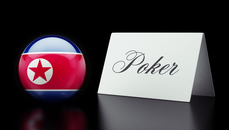 wining: North Korea High Resolution Poker Concept Stock Photo