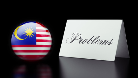 rectify: Malaysia High Resolution Problems Concept Stock Photo