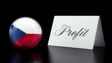 profitability: Czech Republic High Resolution Profit Concept Stock Photo