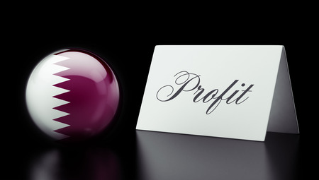 profitability: Qatar High Resolution Profit Concept