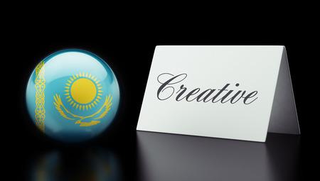 kazakhstan: Kazakhstan High Resolution Creative Concept Stock Photo